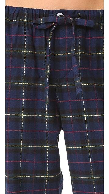 Sleepy Jones Flannel Plaid Marina Pajama Pants