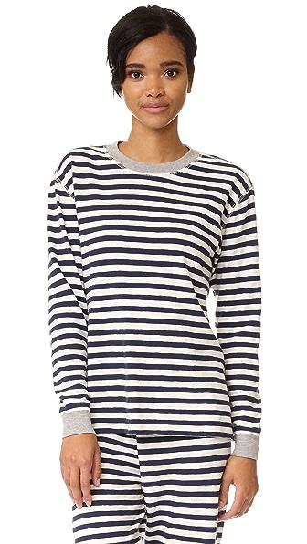 Sleepy Jones Helen Pajama Top - Navy