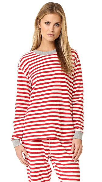Sleepy Jones Helen Pajama Top - Red