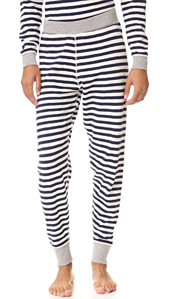 Sleepy Jones Helen Pajama Pants In Navy
