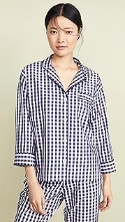 Sleepy Jones Gingham Marina Pajama Shirt