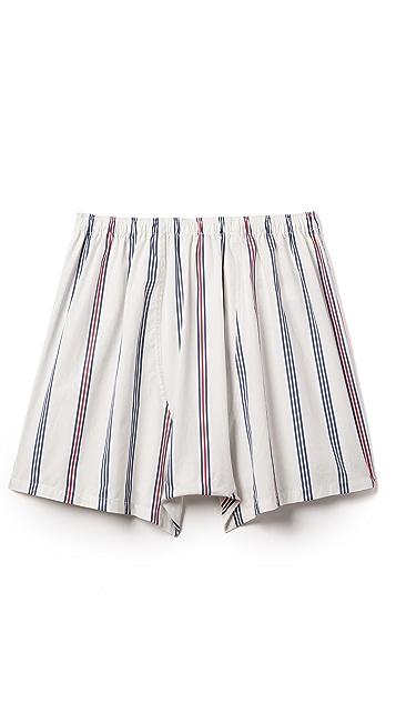 Sleepy Jones Jasper Regimental Stripe Boxer Shorts