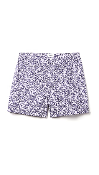 Sleepy Jones Jasper Liberty Glenjade Floral Print Boxer Shorts