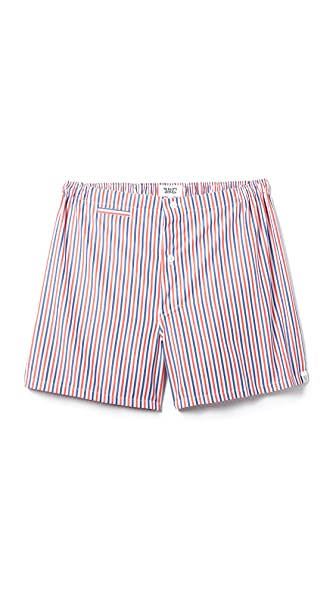 Sleepy Jones Jasper Thin Multistripe Boxer Shorts