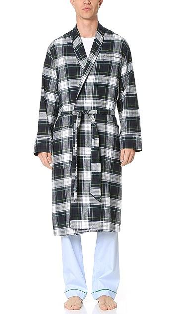 Sleepy Jones Glenn Flannel Stewart Plaid Robe