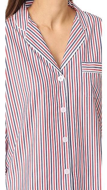 Sleepy Jones Thin Multstripe Marina Pajama Shirt