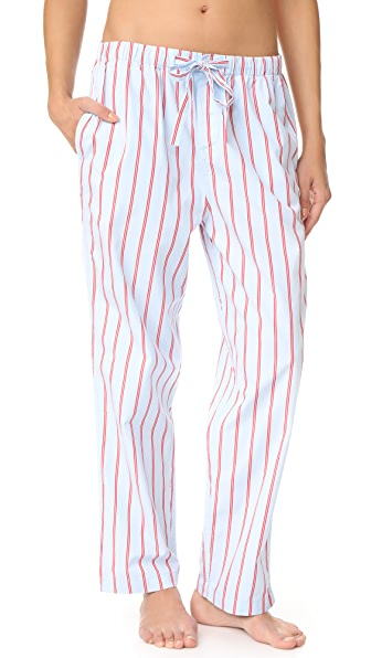Sleepy Jones Marina Pajama Pants - Blue/Red