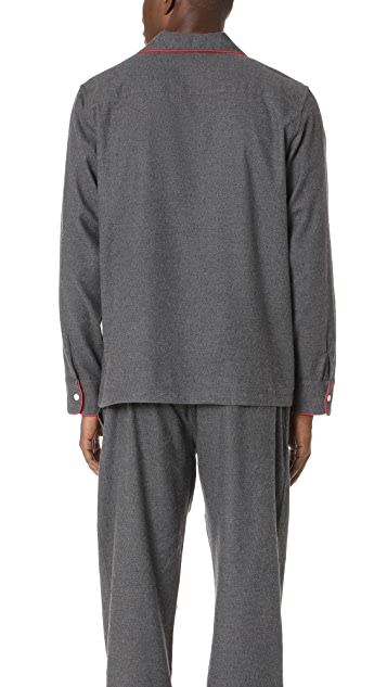 Sleepy Jones Solid Flannel Pajama Top