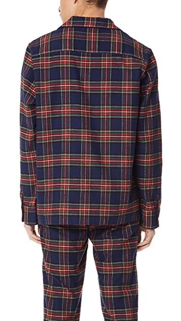 Sleepy Jones Stewart Flannel Pajama Top