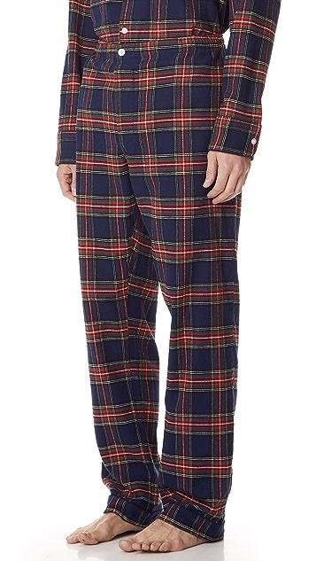 Sleepy Jones Stewart Flannel Pajama Pants