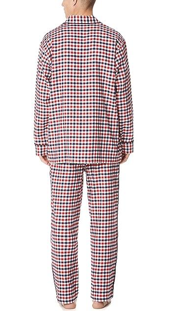 Sleepy Jones Gingham Flannel Pajama Set