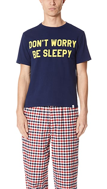 Sleepy Jones Don't Worry Be Sleepy Tee