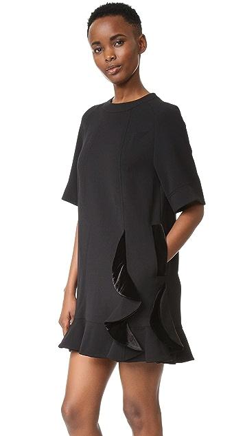 SJYP Velvet Detail Shirring Dress