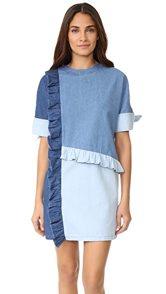 SJYP Denim Frill Dress
