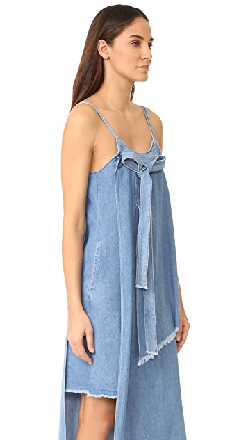 SJYP Unbalanced Denim Dress