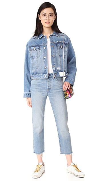 SJYP Back Button Denim Jacket