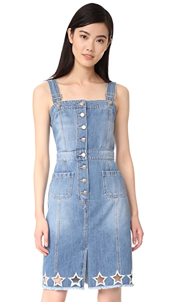 SJYP Star Embroidery Denim Dress