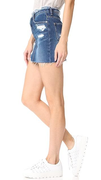SJYP Destroyed Denim Miniskirt