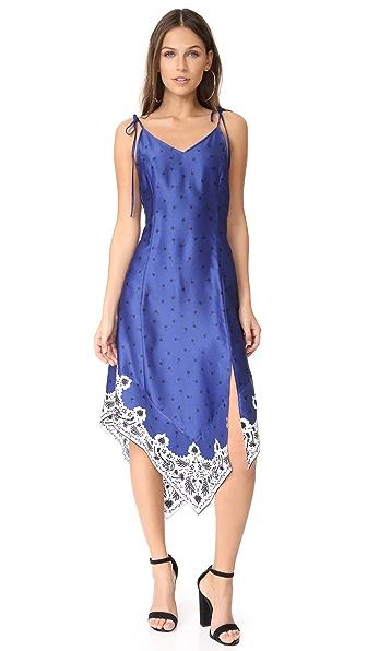 SJYP Scarf Detail Slip Dress In Blue