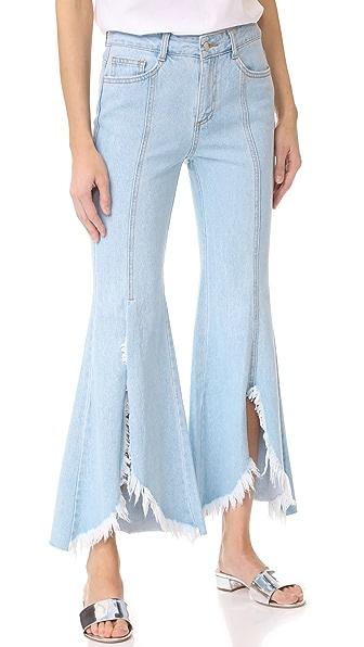 SJYP Front Cutoff Jeans - Denim Blue