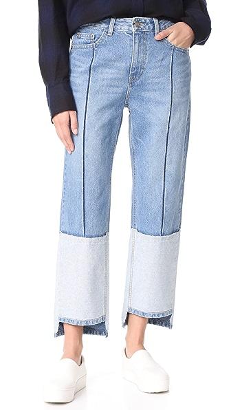 SJYP Ton On Ton Tomboy Jeans In Denim Blue