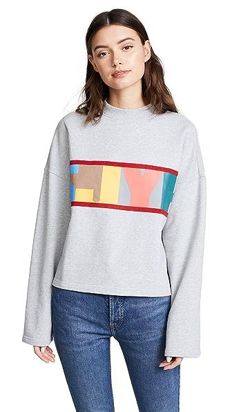 SJYP SJYP Logo Crop Sweatshirt In Grey