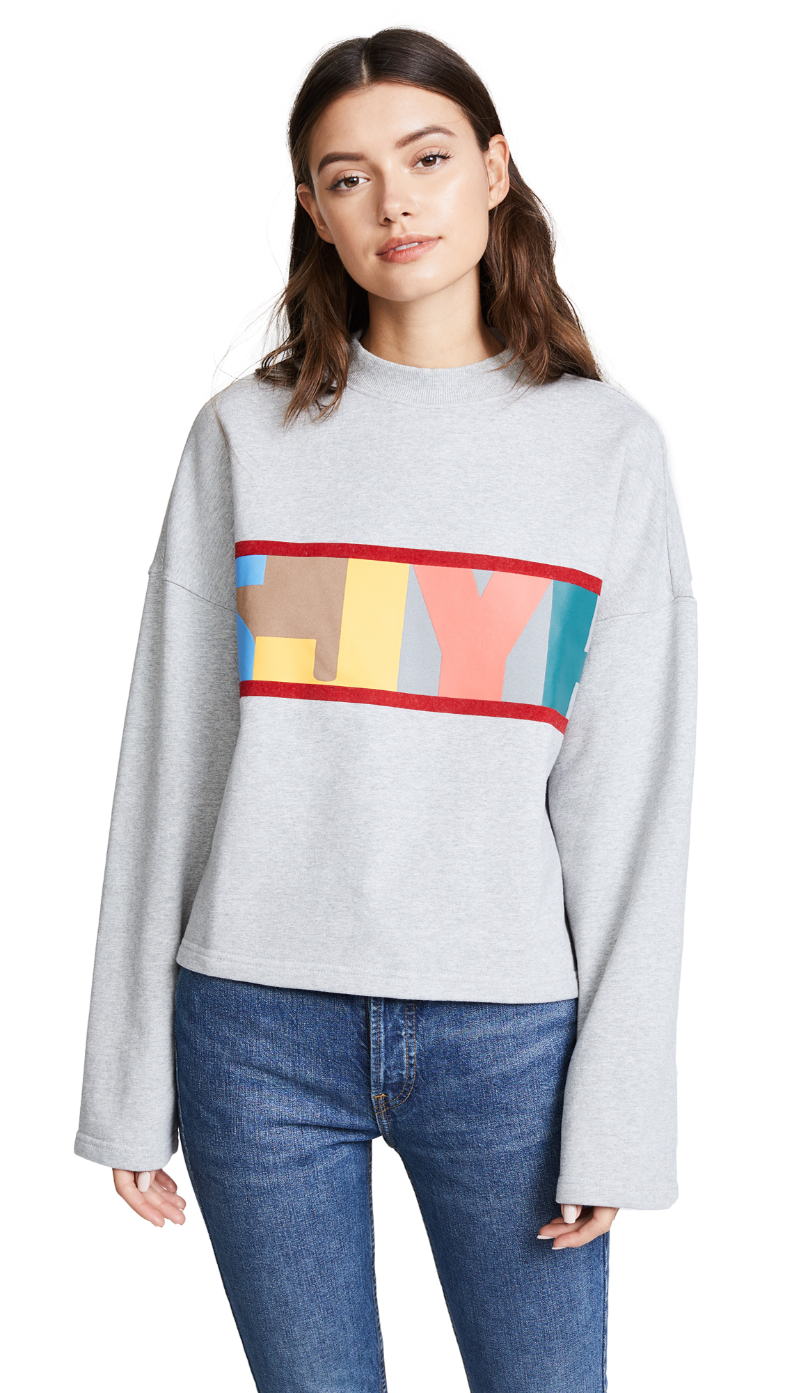 SJYP SJYP Logo Crop Sweatshirt - Grey
