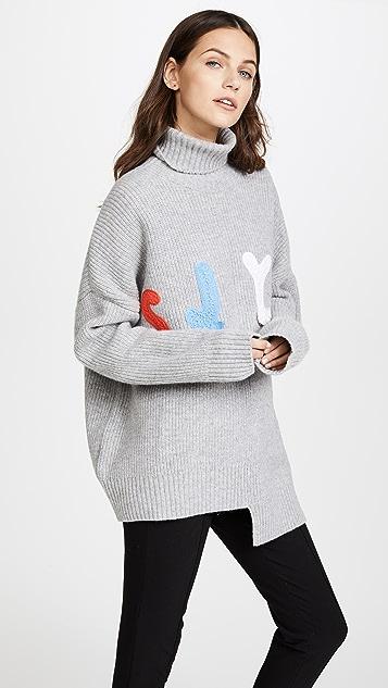 SJYP SJYP Logo Turtleneck Sweater