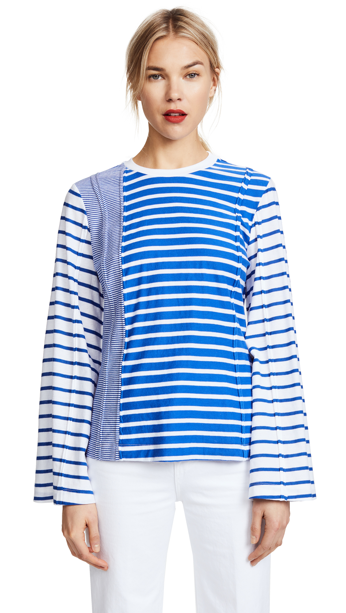 SJYP Uneven Stripe Tee - Blue