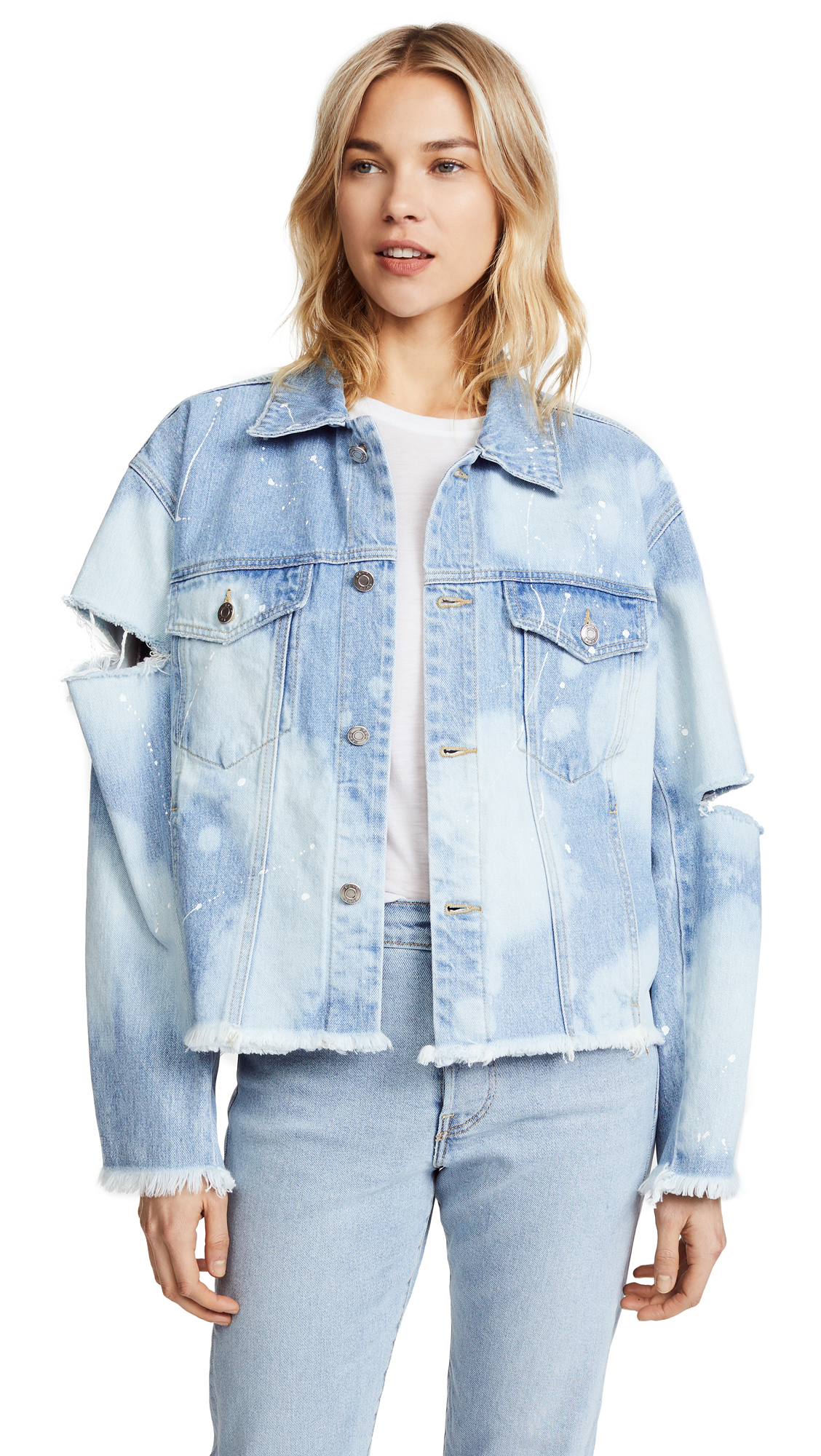 SJYP Washed Denim Jacket - Light Blue