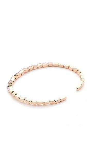 Suzanne Kalan Fireworks 18k Pink Sapphire Cuff Bracelet