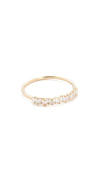 Suzanne Kalan Fireworks 18k Gold Diamond Half Band Ring