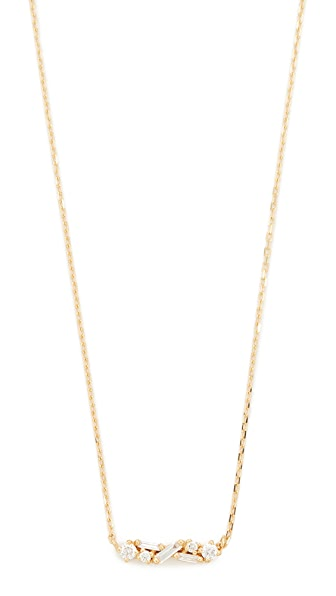 Suzanne Kalan Fireworks 18k Gold Diamond Necklace In Yellow Gold