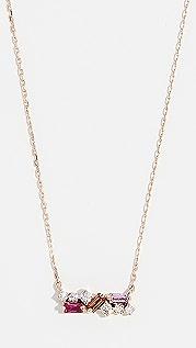 Suzanne Kalan 18k Rose Gold Sapphire Baguettes Necklace