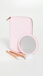 Skinnydip Rose Gold Portfolio Makeup Brush Set