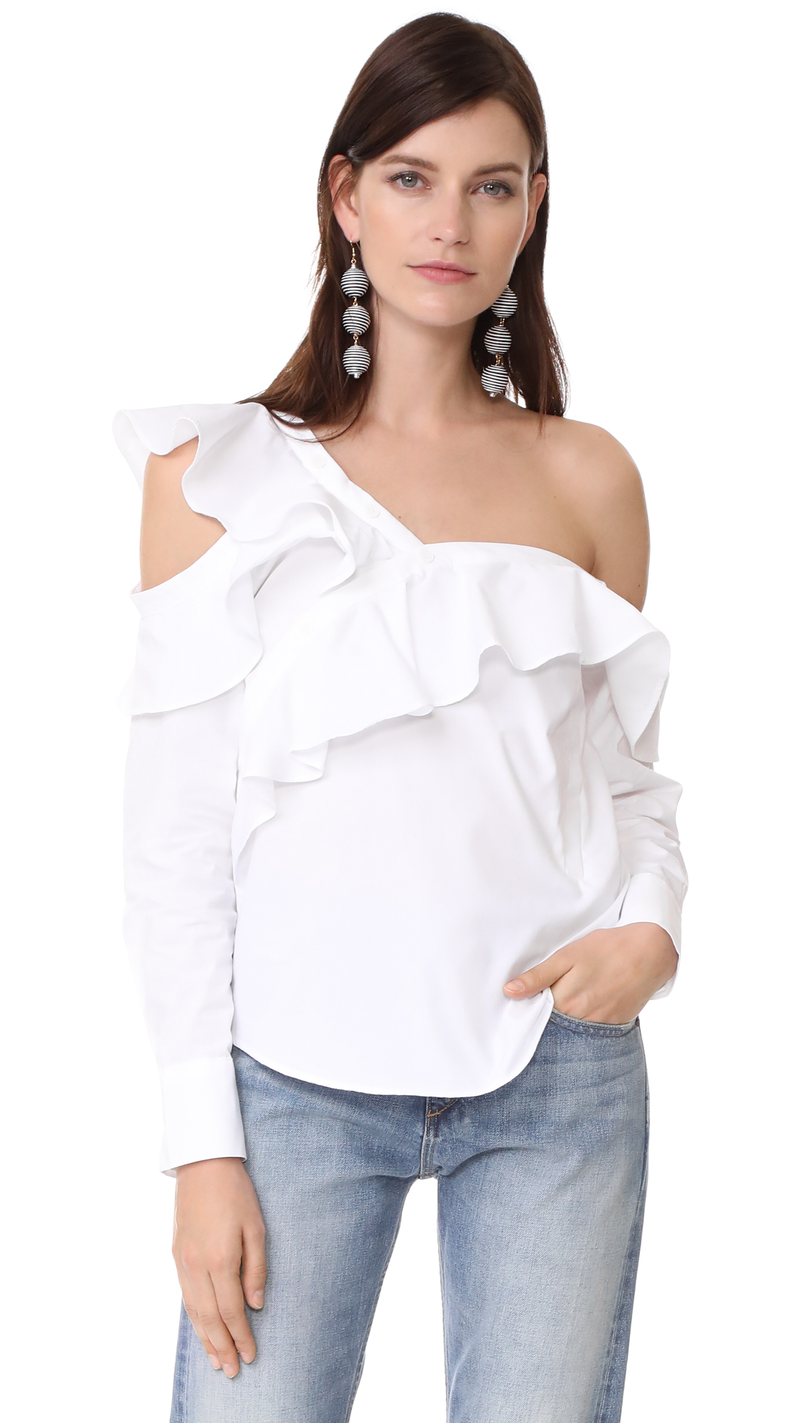STYLEKEEPERS Look of Love Off Shoulder Top - Ivory