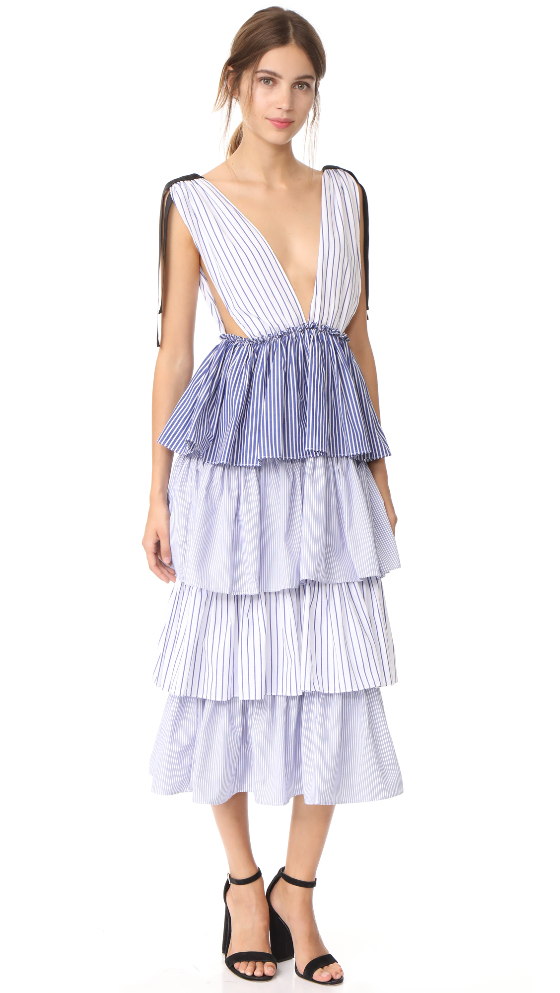 STYLEKEEPERS Free Spirit Dress - Striped Blue