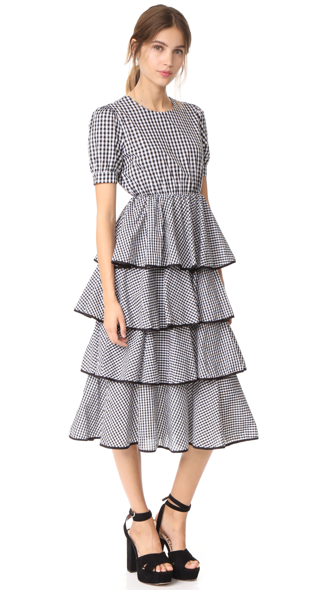 STYLEKEEPERS Beauty Buzz Dress - Checked Black