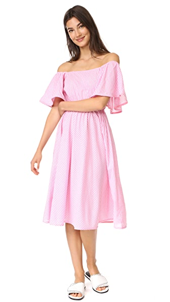 STYLEKEEPERS Daisy Chains Dress In Checked Pink
