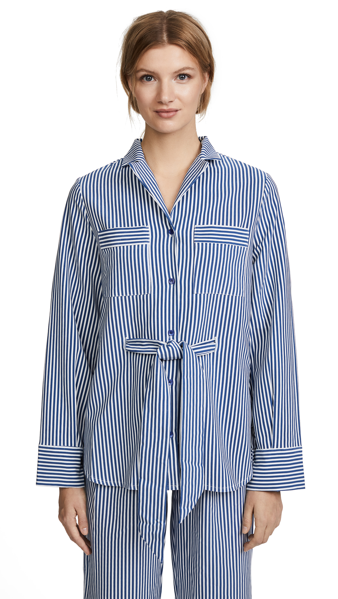 STYLEKEEPERS Sleeping Shirt Blazer - Striped Blue