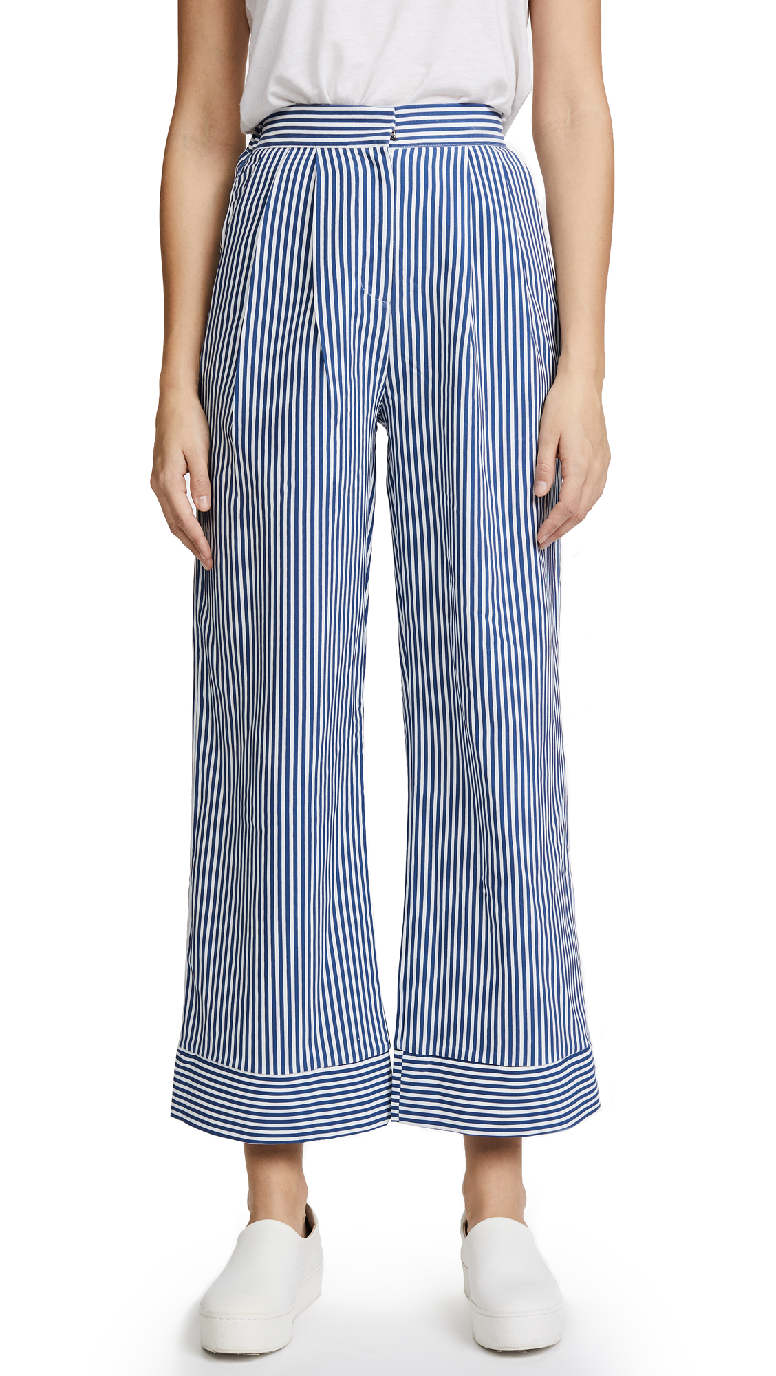 STYLEKEEPERS The Overboard Pants - Striped Blue