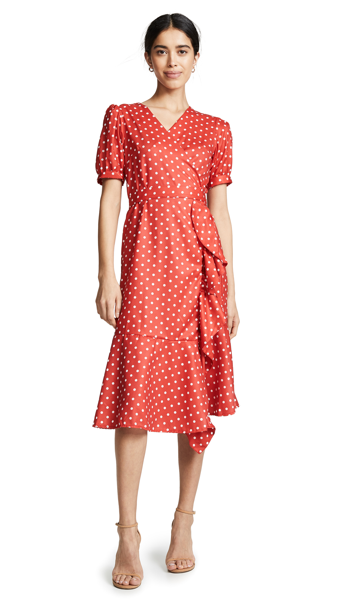 STYLEKEEPERS The Breezy Dress in Red Polka Dots