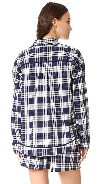 Skin Woven Plaid Shirt