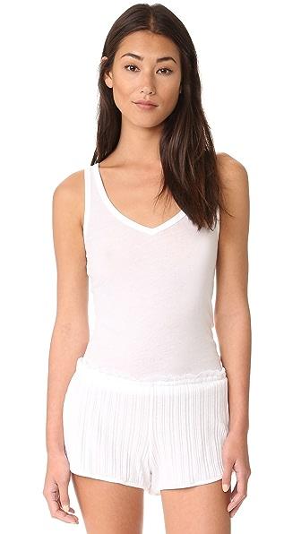 Skin Tank Top In White