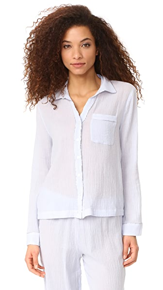 Skin PJ Shirt with Piping