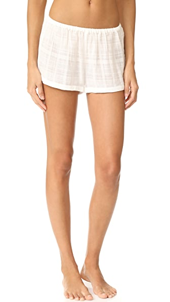 Skin PJ Shorts - White
