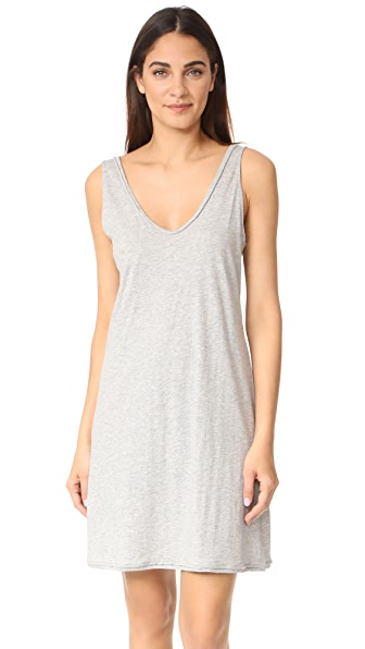 Skin Adjustable Strap Pajama Dress - Heather Grey