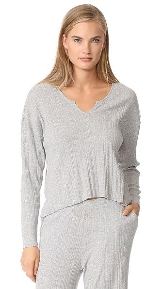Skin Viola Long Sleeve Shirt - Heather Grey