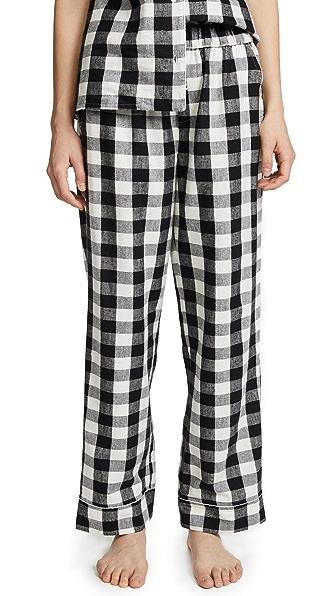 Skin Lilou PJ Pants In Black/White Check