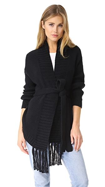 Skin Analia Cardigan - Black